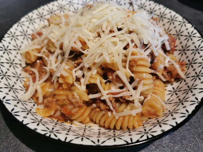 One pot pasta au micro minute Tupperware
