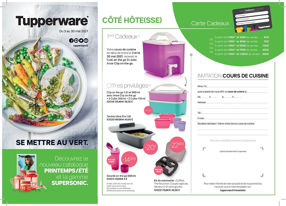 Promotions Tupperware mai 2021