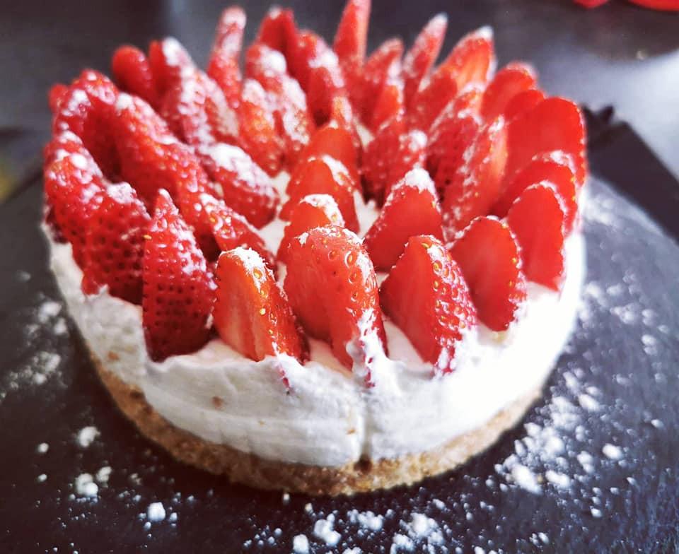 Tarte aux fraises et speculoos sans cuisson Tupperware
