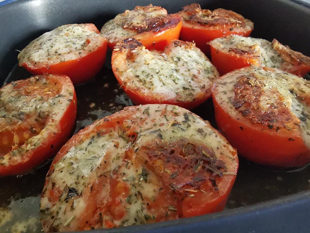 Tomates provençales et parmesan au micro pro grill tupperware