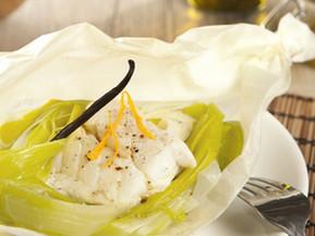 Cabillaud aux poireaux orange et vanille dans le cuiseur duo Tupperware