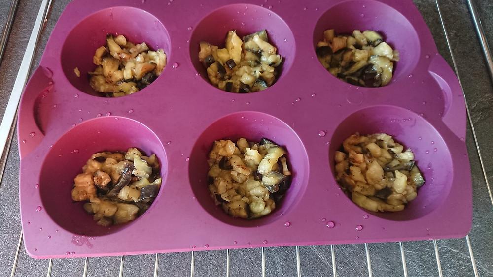 aubergines dans moule à moelleux tupperware