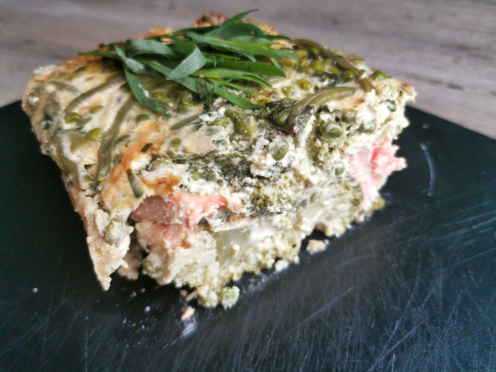 Terrine de poisson au légumes verts, saumon dans terrine ultra pro Tupperware