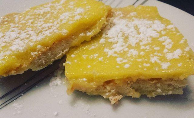 Carré citron, crème lemon curd et pate croustillante, un délice !