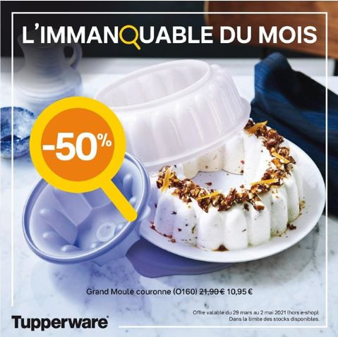 Moule couronne Tupperware -50 %