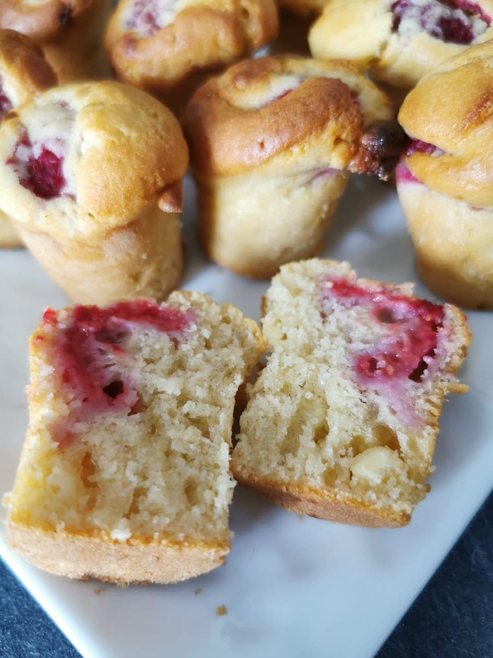 mini muffins framboise intérieur