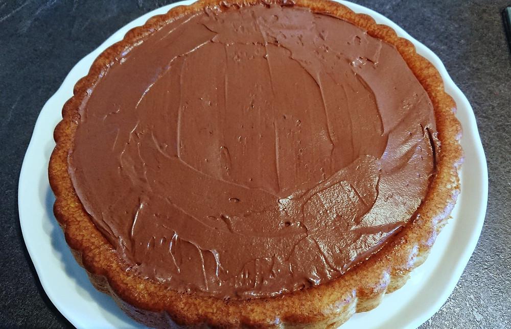 fond de tarte ganache montée au chocolat