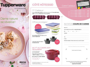 Promotions Tupperware du 01 au 28 mars 2021