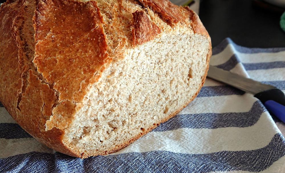 intérieur du pain complet à la cocotte ultra pro Tupperware
