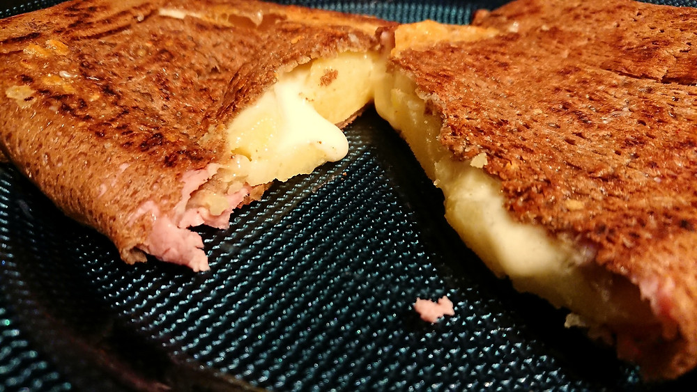 galette pommes de terres jambon fromage à raclette