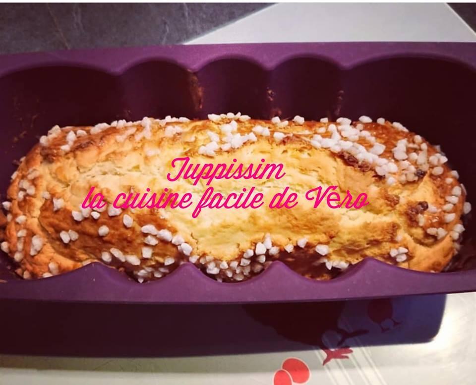 Recette de la brioche  express dans le moule à cake Tupperware