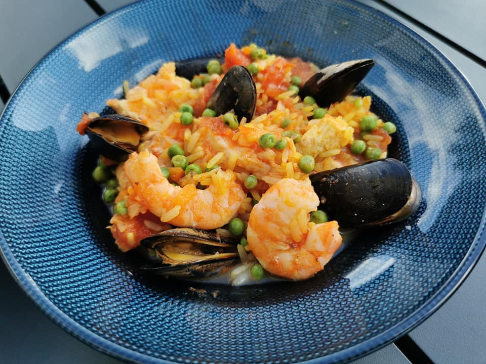 Paella express au micro minute Tupperware