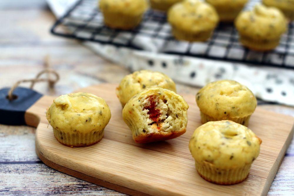Mini muffins cœur Boursin - Photo Amandine Cooking