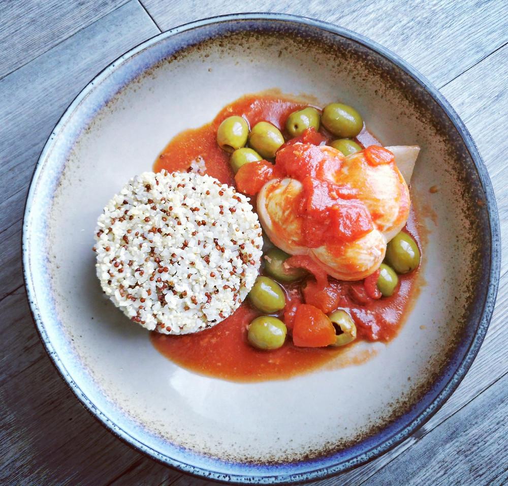 Paupiettes de dinde aux olives au micro minute Tupperware