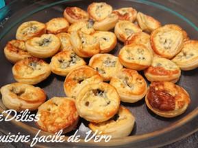 Mini tartelettes au roquefort pour l'apéro