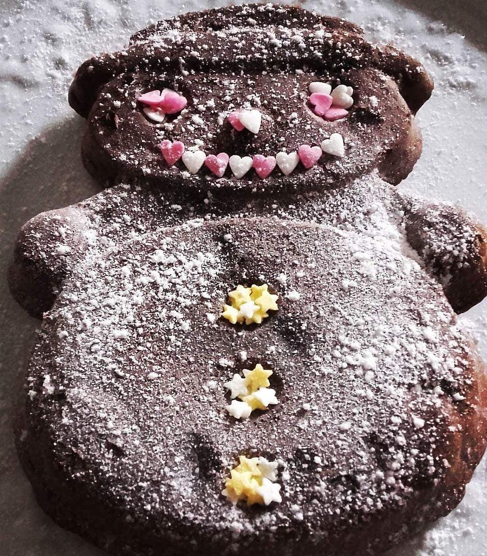 Gâteau bonhomme de neige chocolat Tupperware