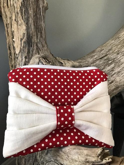 Red & White Polka Dot Clutch