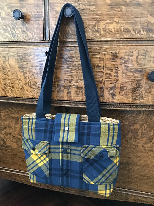 Flannel Shirt Tote