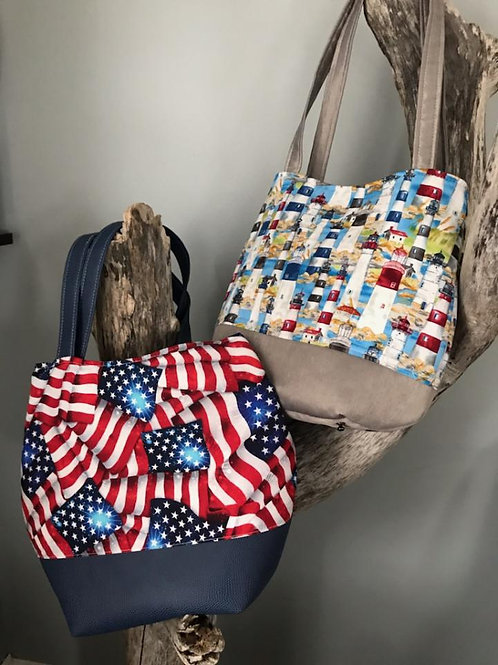 Flag and Lighthouse Totes
