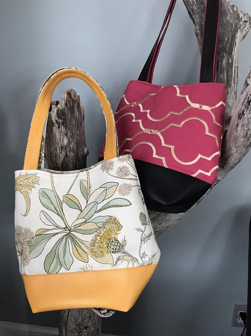 Floral/Hot Pink Totes