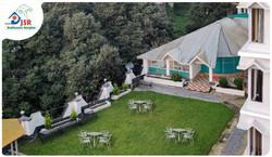 Aerial View of Garden Area