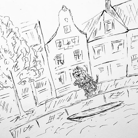 In Amsterdam #illustration #drawing #com