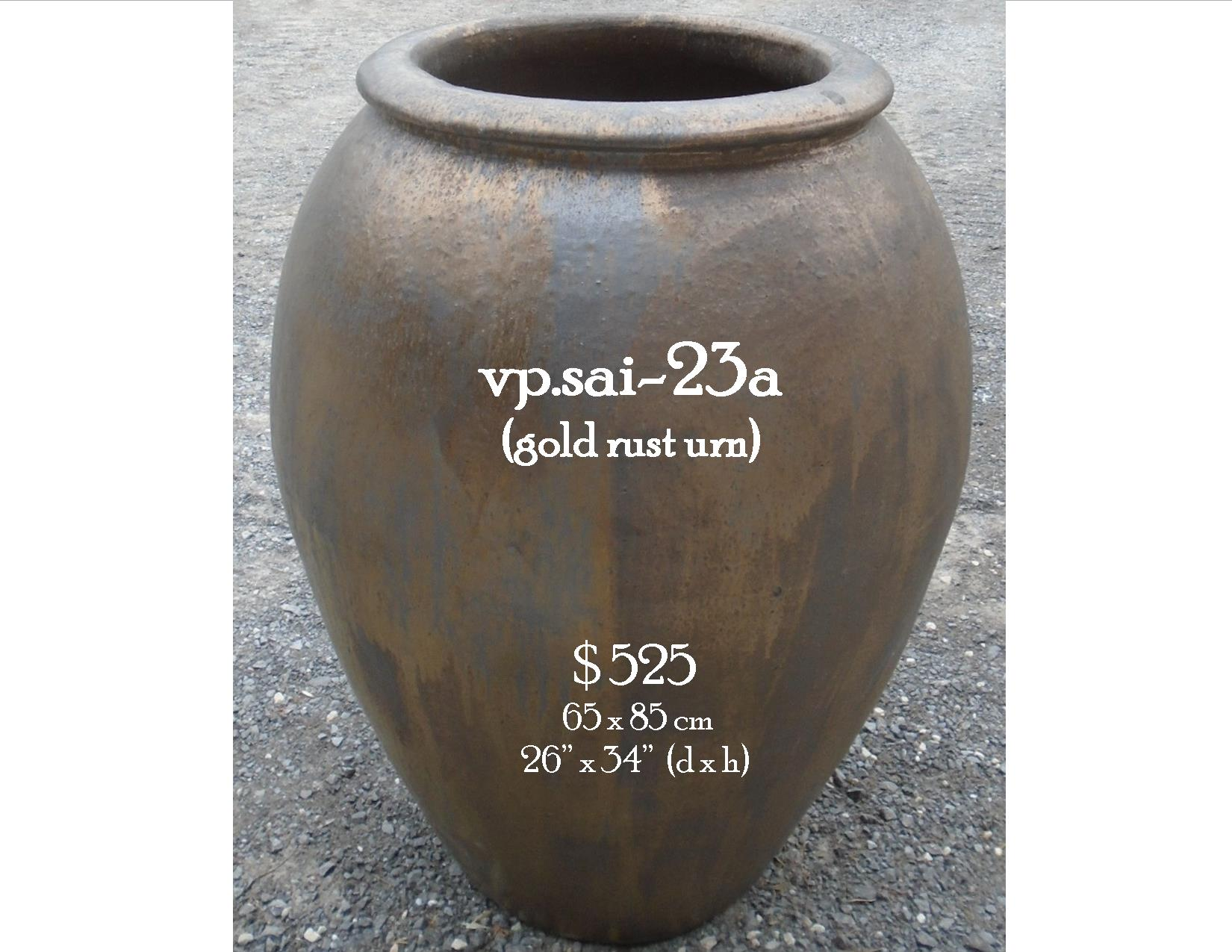 vp.sai-23a  gold rust urn