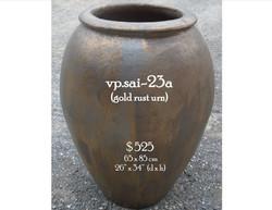 vp.sai-23a  gold rust urn