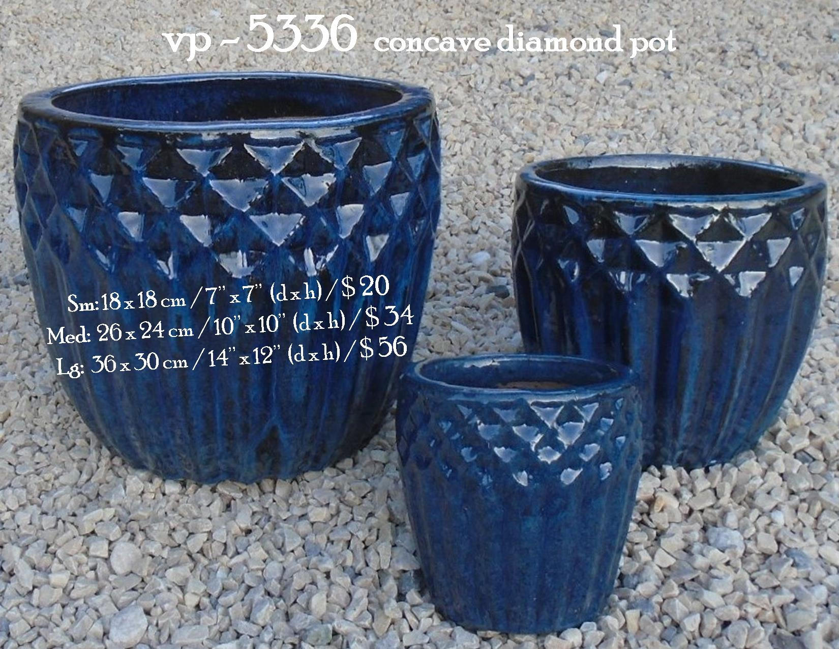 vp - 5336  concave diamond pot