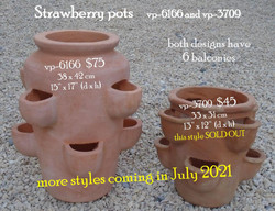 Strawberry pots     vp-6166 and vp-3709.