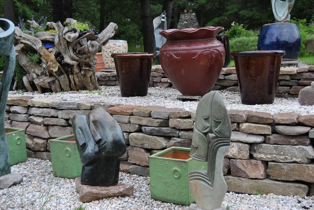 cubic green lunar pots