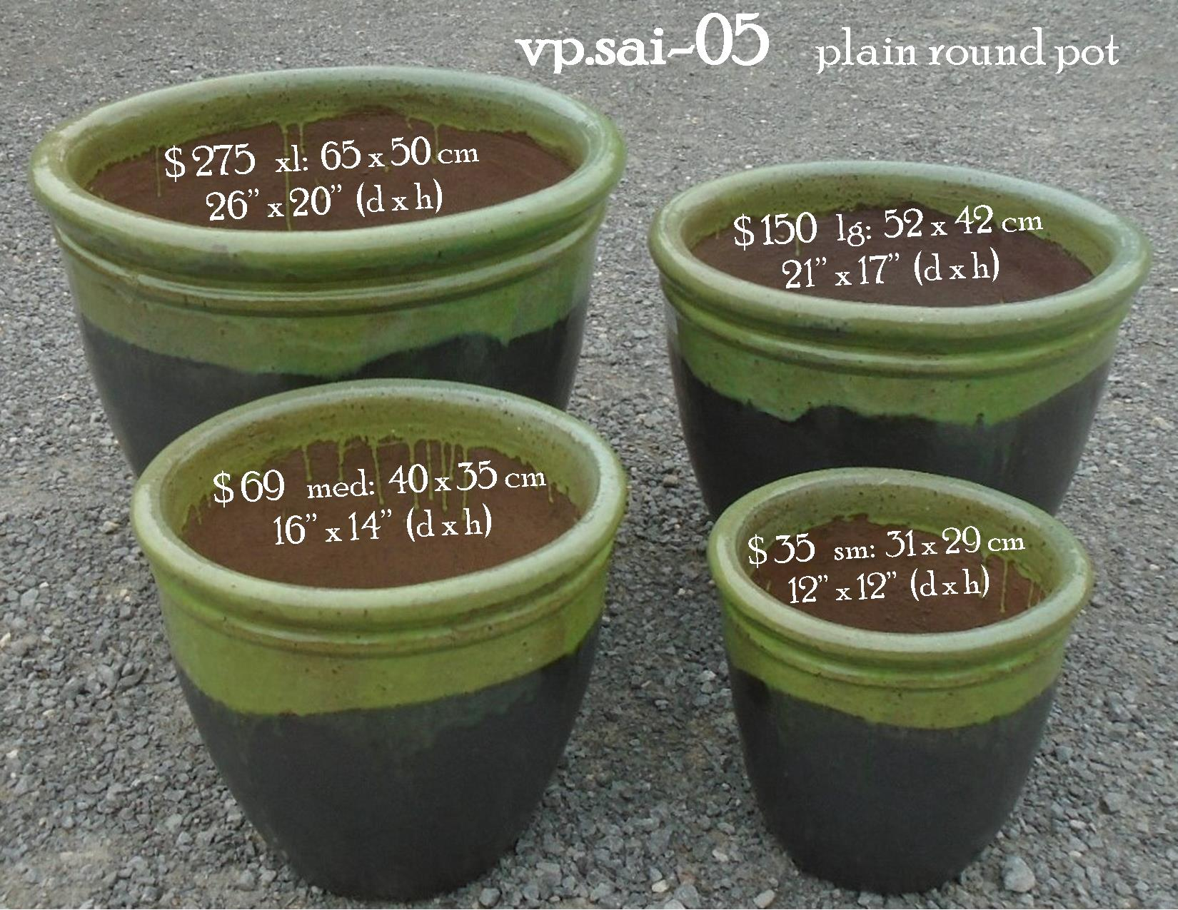 vp.sai-05    green rim pot