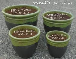 vp.sai-05    green rim pot