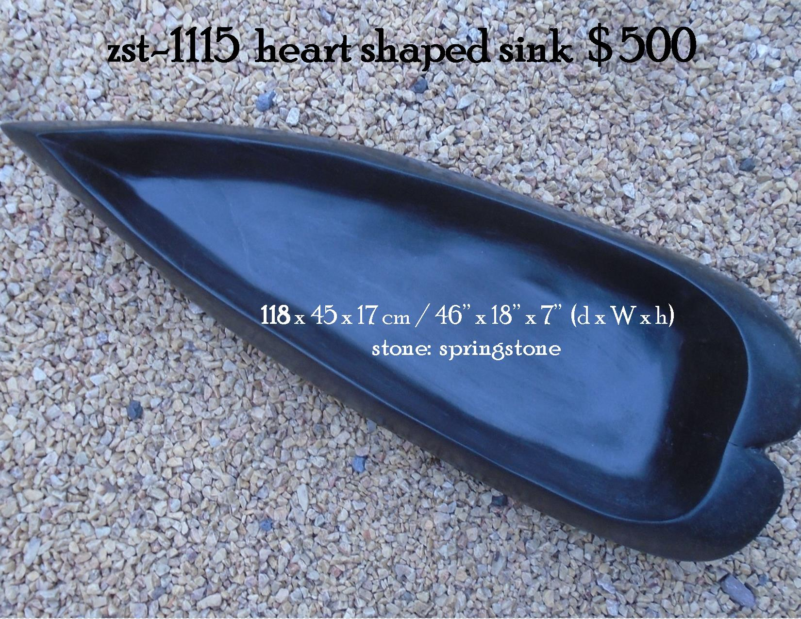 zst-1115  heart shaped sink
