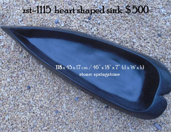 zst-1115  heart shaped sink
