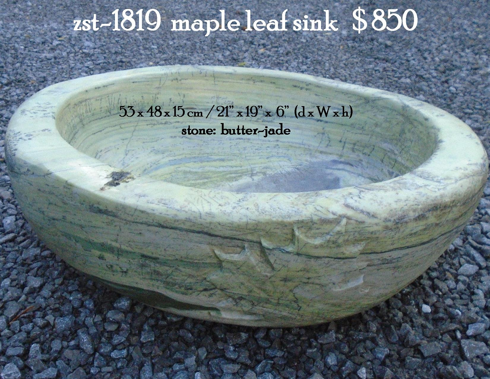 zst-1819  maple leaf sink