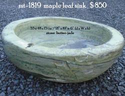 zst-1819  maple leaf sink
