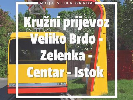 Kružni prijevoz Veliko Brdo - Zelenka - Centar - Istok