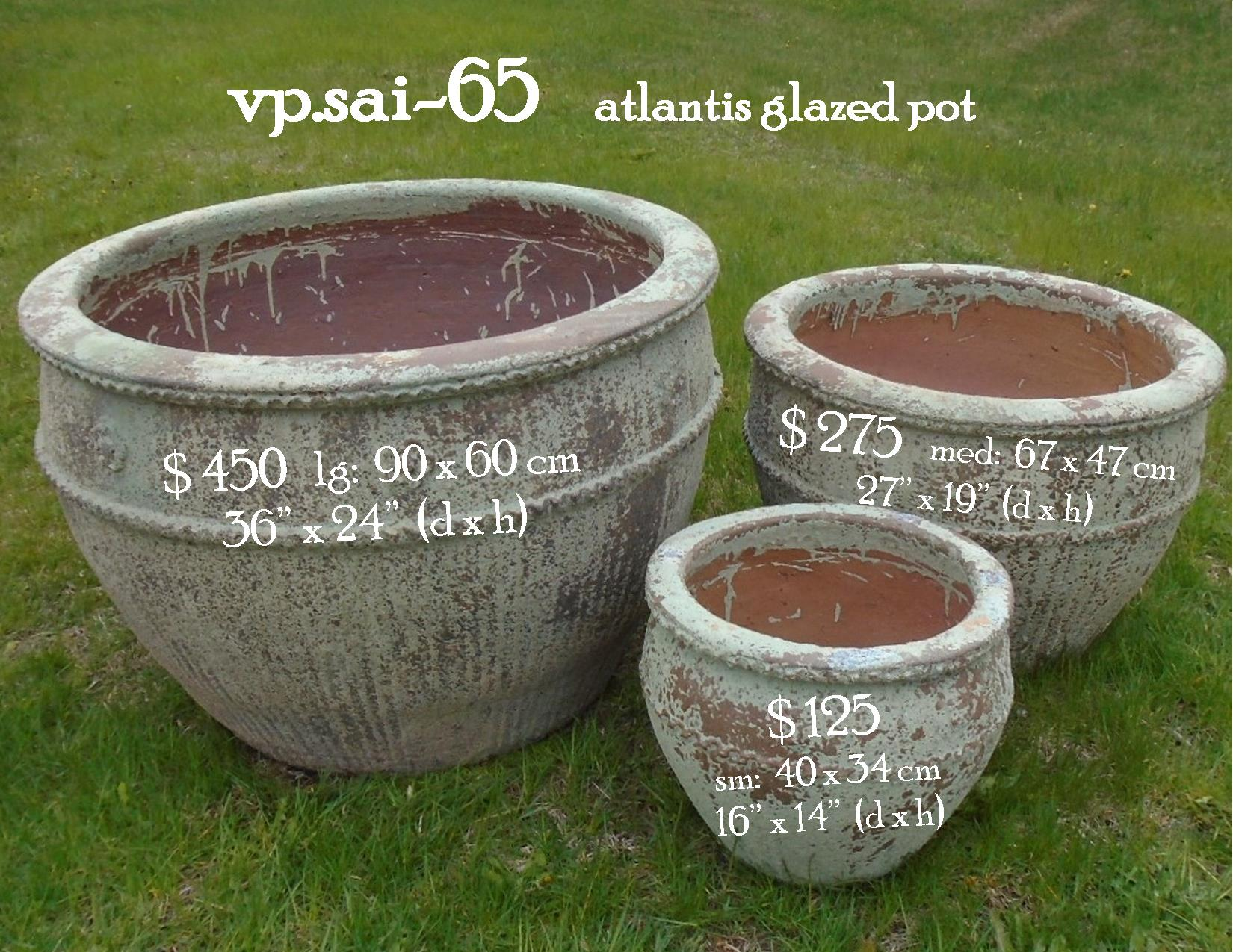 vp.sai-65    atlantis glazed pot