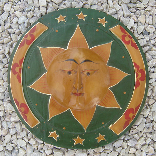 inwp-42000 - painted wooden sun plaque