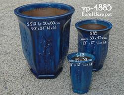 vp-4885    floral flare pot