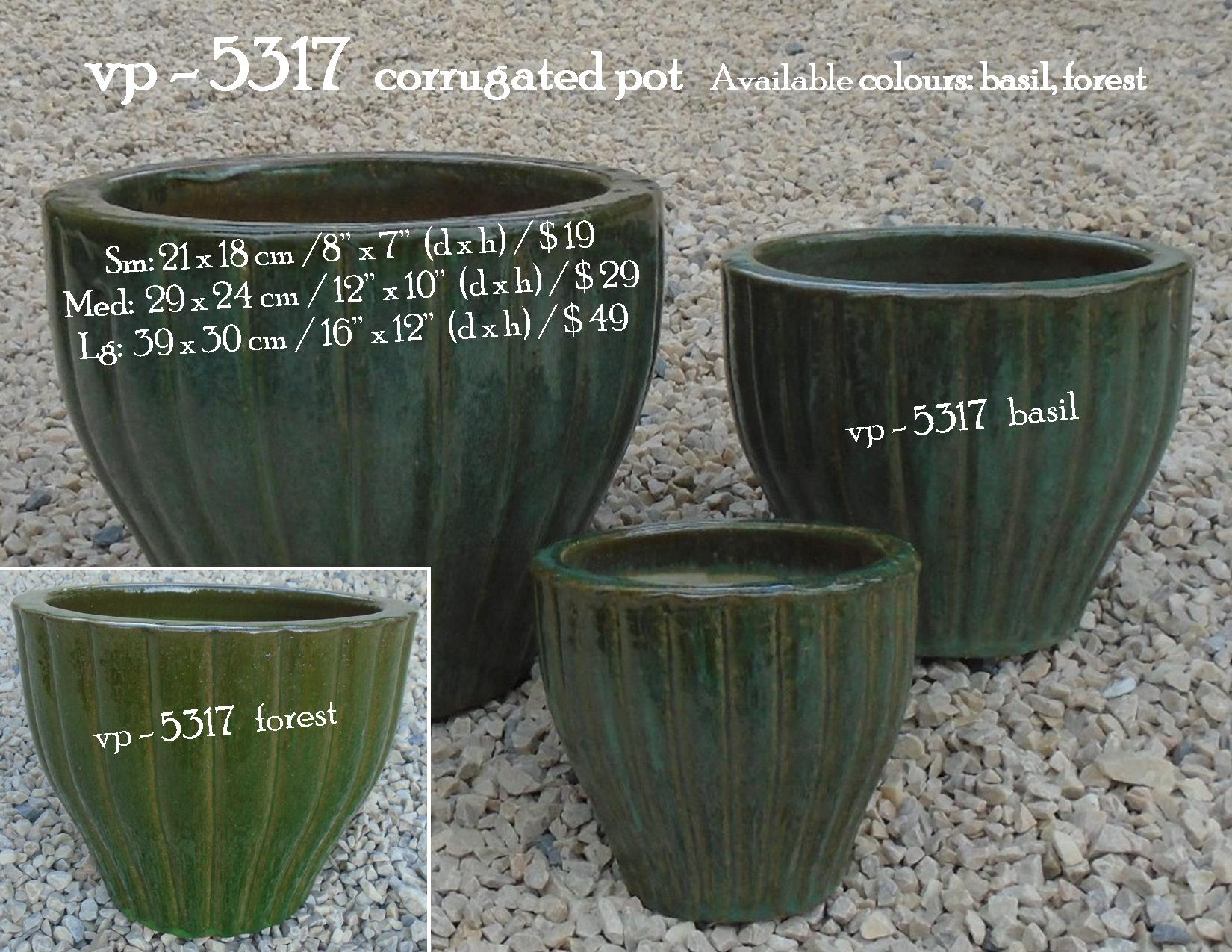 vp - 5317  corrugated pot