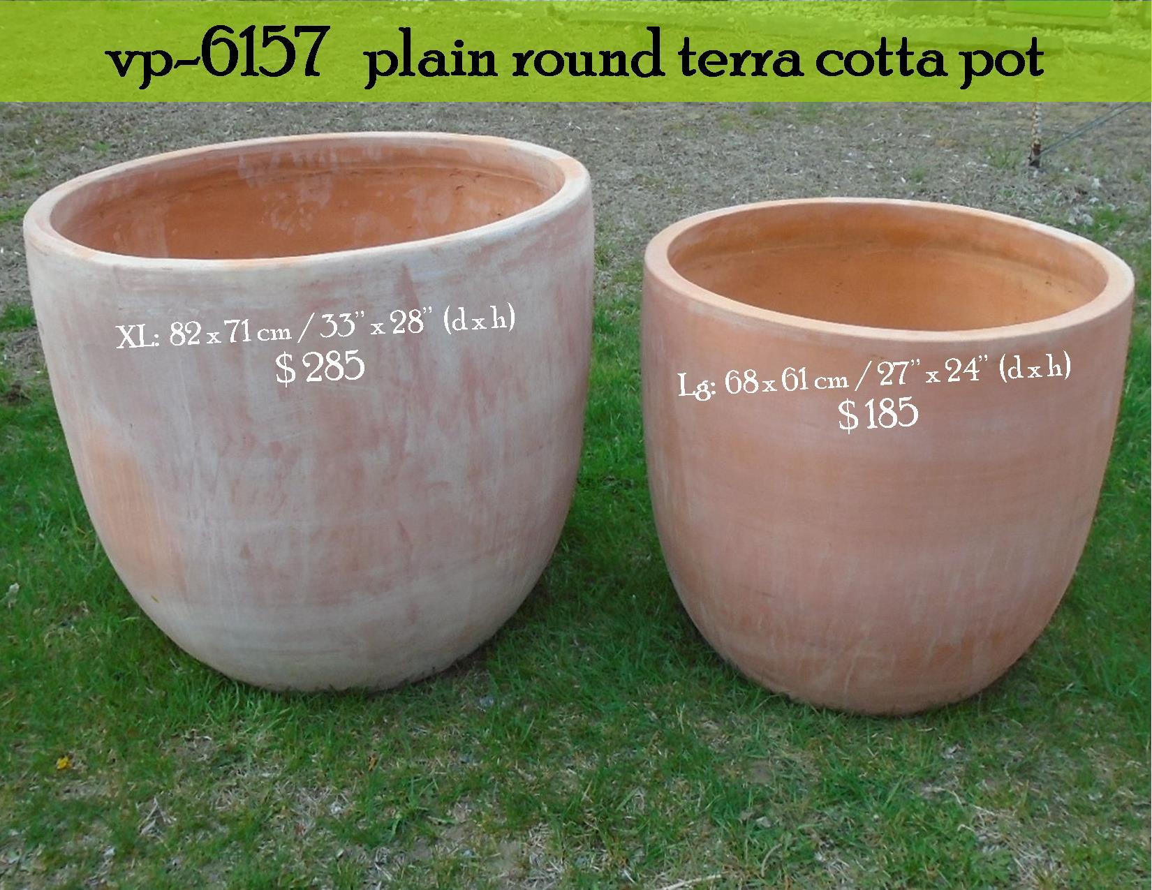 vp-6157   plain round terra cotta pot