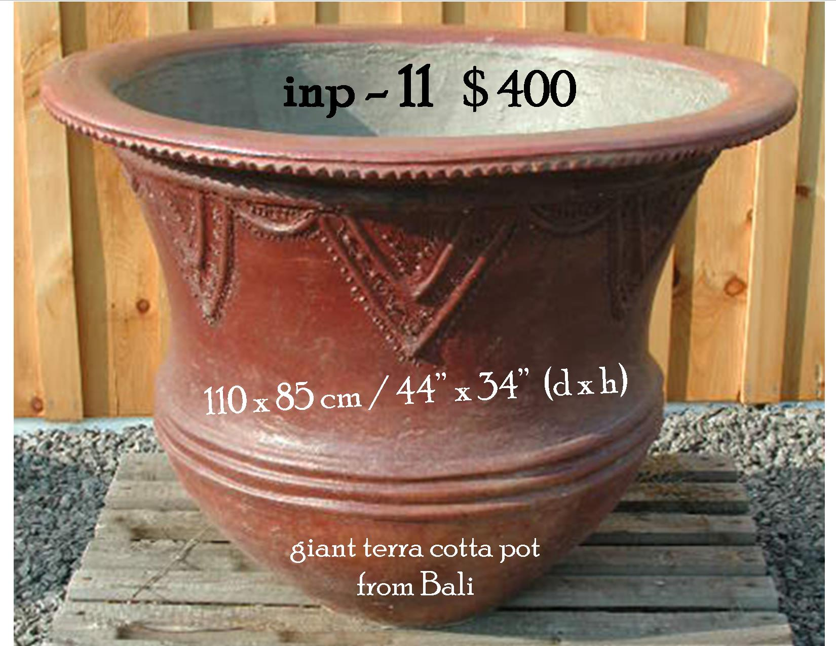 inp-11 giant terra cotta pot from Bali