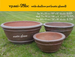 vp.sai-28bc   wide shallow pot