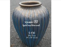 vp.sai-22  gold top blue urn