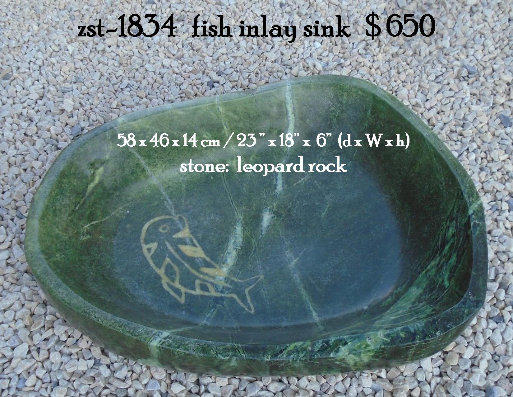 zst-1834   fish inlay sink