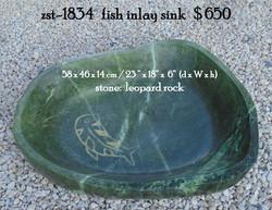 zst-1834   fish inlay sink