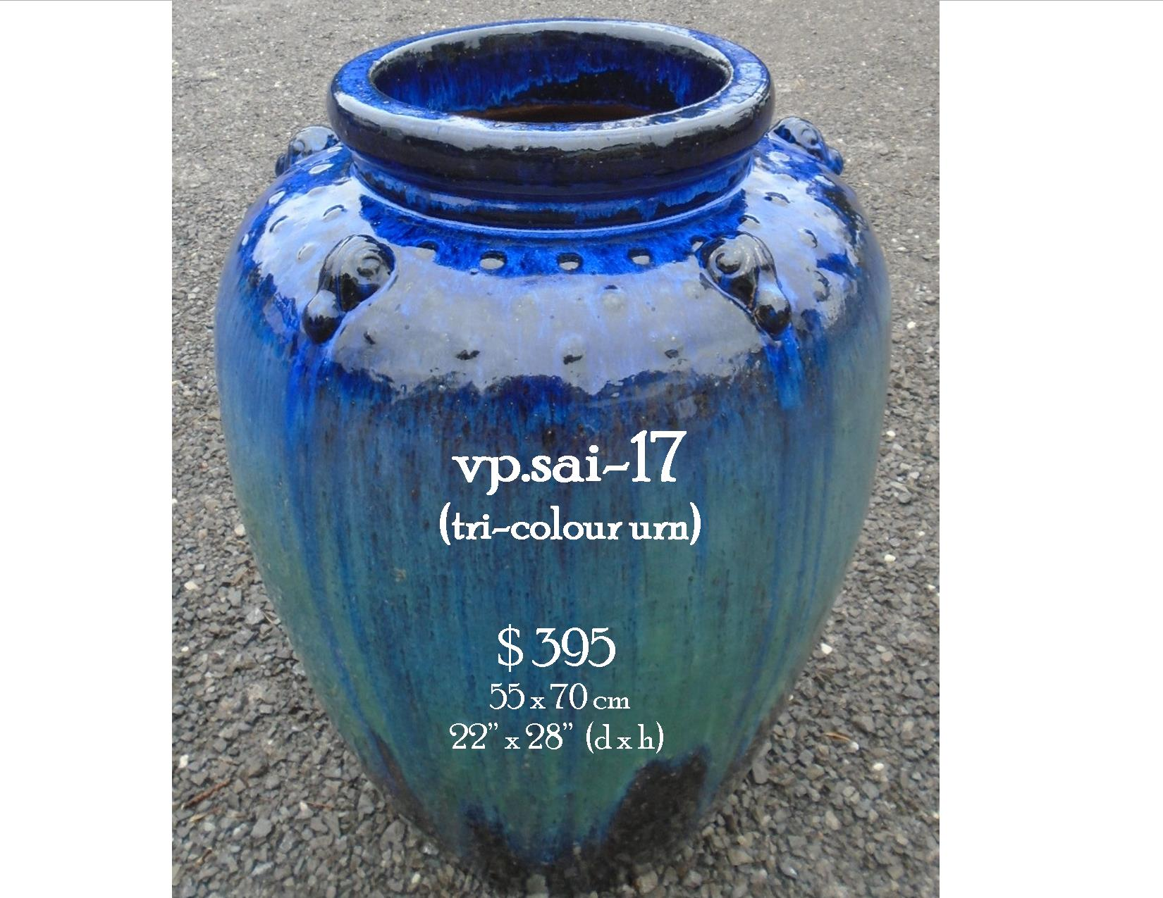 vp.sai-17  tri-colour urn