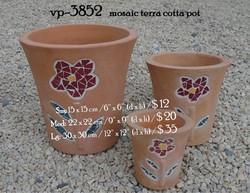 vp-3852   mosaic terra cotta pot